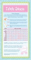 Tabela Chinesa para saber Sexo do bebé
