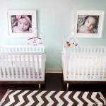 15 Ideias para Quartos de Bebés Gémeos