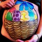 Barrigas com arte… Inspire-se nestes pinturas em barrigas de grávidas!