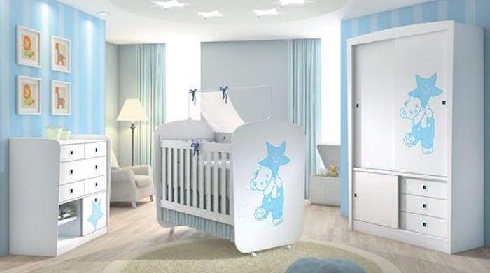 Decoração quarto criança em tons de azul